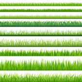 Big Set Grasses — Vector de stock