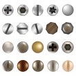 Stock Vector: Bolts And Screws