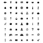 Restaurant And Map Icons Set — Stock Vector