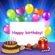 Royalty-Free Stock Vector Image: Happy Birthday Card