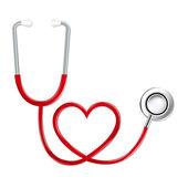 Stethoscope In Shape Of Heart — Stock Vector