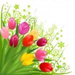 Bouquet Of Flowers — Stock Vector