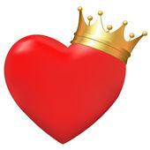 Coeur couronne — Vecteur
