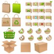Royalty-Free Stock Vector Image: Set Of Ecological Container