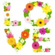 Love From Flowers - Stock Vector