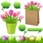 Spring Set — Stock Vector