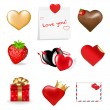 Stock Vector: Valentines Day Icons Collection