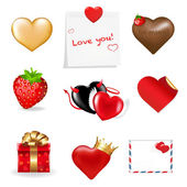 Valentines Day Icons Collection — Stock vektor