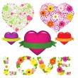 Collection Of Hearts — Stock Vector #4790048