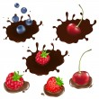 Royalty-Free Stock Vector Image: Berry In Chocolate