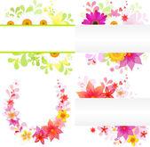 Tle kwiatów — Wektor stockowy