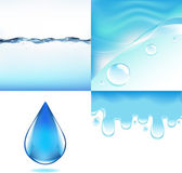 Water Set — Stock Vector