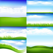 Landscapes — Stock Vector