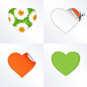 Hearts In Different Kinds — Stock Vector
