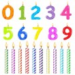 Birthday Candles Of Different Form — Stock Vector #4926129
