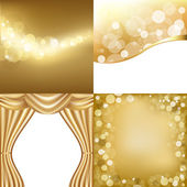 Golden Backgrounds — Stock Vector