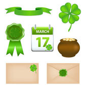 Patricks Day Symbols — Vettoriale Stock