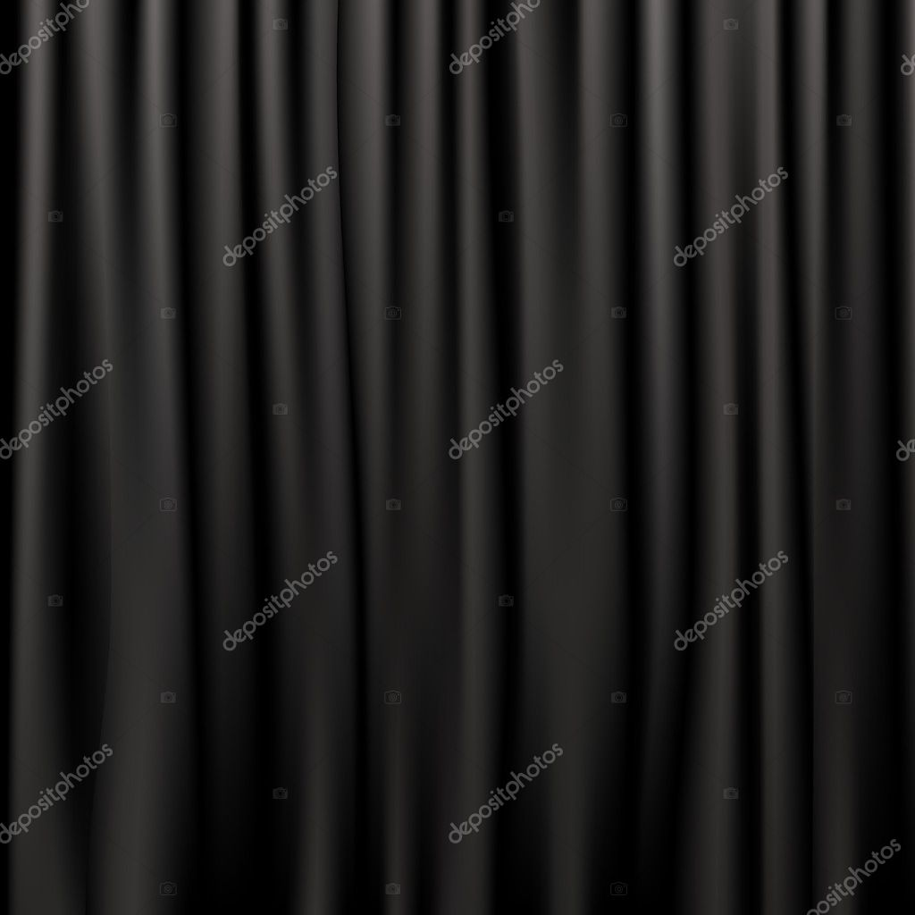 Black Silk Curtains, Vector Illustration — Stock Vector #5005040