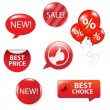Set Of Red Sale Elements — Stock Vector