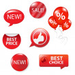 Set Of Red Sale Elements — Stock Vector #5169729