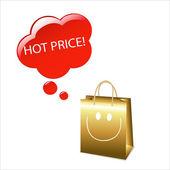 Hot Price — Stock Vector