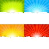 Sunburst Backgrounds — Stock Vector