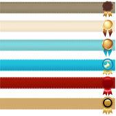 Ribbons And Awards — Stock Vector
