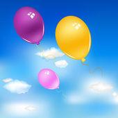 Balloons In Sky — Stock Vector