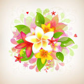 Abstract floral achtergrond — Stockvector