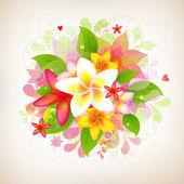 Astratto sfondo floreale — Vettoriale Stock