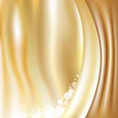 Gyllene bakgrund med stjärnor — Stockvektor