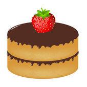 Doğum günü pastası zekâ çilek — Stok Vektör