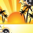 Abstract summer party design — Stockfoto