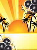 Abstract summer party design — Stock Photo