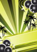 Party flyer design — Stock Photo