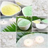 Sea Salt Spa Collage — Stock Photo