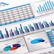 Annual Report. Graph. Diagram. Chart. Analisys. — Stock Photo #4499086