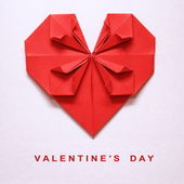 Valentine's Day Origami Card — ストック写真