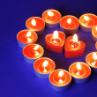 Heart Made of Candles - Stockfoto