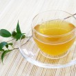 Glass Cup of Green Tea — Stock Photo