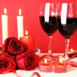Romantic Dinner for Two Still Life - 图库照片