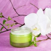 白蘭と保湿剤 — ストック写真