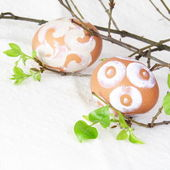 Easter Eggs Painted with Sugar Fudge — Stock Photo
