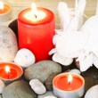 Spa Stones, Candles and Orchids - Lizenzfreies Foto