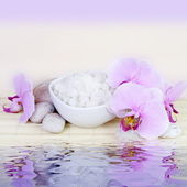 Spa Still Life with Water Reflection — Stock Photo