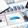 Stock Photo: Business Still Life with Graphs