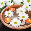 White Flowers Aroma Bowl - Stock Photo