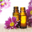 Stock Photo: Bottles of Essential Oil