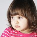 Upset Annoyed Little Girl Portrait — Stock Photo