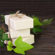 Stack of Natural Ingredients Soap — Stock Photo